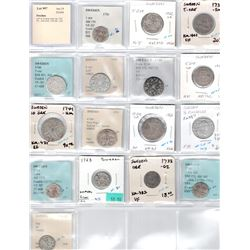 SWEDEN: LOT of 16 silver coins, ex Dr. John Lund Collection.