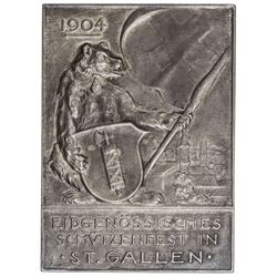 SWITZERLAND: AR plaque, 1904. EF