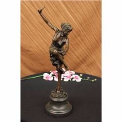 Lost Wax Dancer Bronze Sculpture on Marble Base