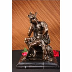 Roman Gods Mars Bronze Sculpture on marble base Statue