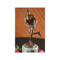 Rugby Football Player Trophy Sport Bronze Statue
