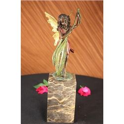Baby Girl Angel Bronze Figure
