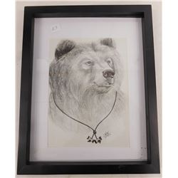 K. Sanders Bear Pencil Art