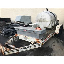 1993 TRAIL KING 16'X6' FLATDECK TRAILER, WHITE, VIN#1TKU01627PM023108, NO ICBC DECLARATIONS