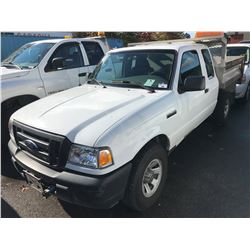 2008 FORD RANGER, WHITE, 2 DOOR DUMP, 4.0L, VIN #1FTZR45E78PA43343, 155,853KMS, GAS, AUTOMATIC,