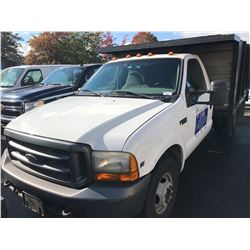 1999 FOR F350, 2 DOOR PICK UP, SUPERDUTY XLT, 5.4L V8, GAS, AUTOMATIC, VIN#1FDWF36L0XEC07637,