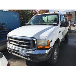 1999 FORD F350, WHITE, PICKUP, GAS, AUTOMATIC, VIN#1FTSF31L2XED01061, 357,319KMS,