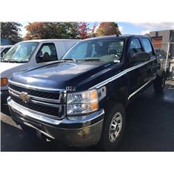 2011 CHEVROLET SILVERADO, BLUE, CHASSIS ONLY NO BOX, GAS, AUTOMATIC, VIN#1GC4CZCG9BF201613,