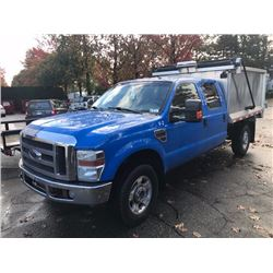 2010 FORD F350 SUPER DUTY, GREY/BLUE, DUMP BOX, DIESEL, AUTOMATIC, VIN#1FTWW3BR0AEB22819,