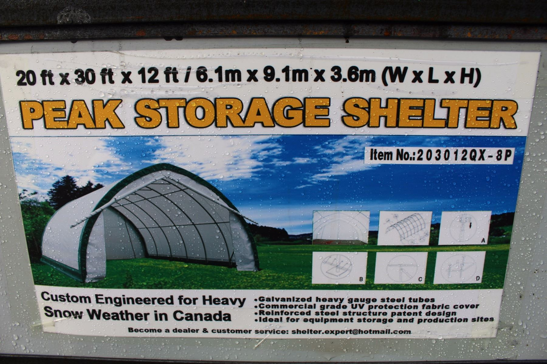 Peak 20x30x12 Shelter Storage : Ft by peak storage shelter able auctions