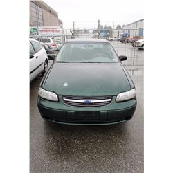 2002 CHEVROLET MALIBU, GREEN, 4 DOOR, GAS, AUTOMATIC, VIN#1G1ND52J62M586933, 210,543KMS,