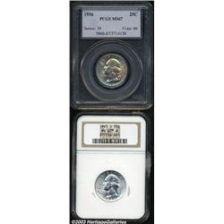 1943-S 25C MS67 S W NGC, trumpet tail mintmark