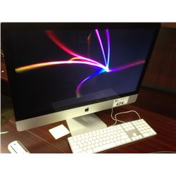 APPLE IMAC 27'' LATE 2013, IMAC14,2, 3.4 GHZ INTEL CORE I5 PROCESSOR, 8 GB 1600 MHZ DDR3 RAM,