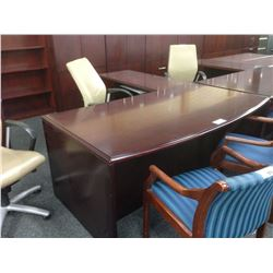 MAHOGANY KRUG 6' L-SHAPE EXECUTIVE DESK (LH)