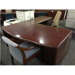 MAHOGANY KRUG 6' L-SHAPE EXECUTIVE DESK (RH)