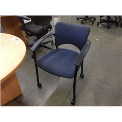 BLUE TEKNION AMICUS ROLLING CLIENT CHAIR