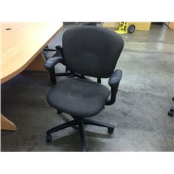 GREY HAWORTH IMPROV HE FULLY ADJUSTABLE MID BACK TASK CHAIR