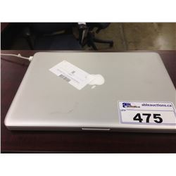 APPLE MACBOOK PRO 13'' UNIBODY NOTEBOOK COMPUTER, NO POWER SUPPLY, NO HARD DRIVE, CONDITION