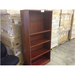 CHERRY 5.5' ADJUSTABLE SHELF BOOK CASE