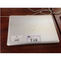 APPLE MACBOOK PRO 15'' ALUMINUM NOTEBOOK COMPUTER, NO POWER SUPPLY, NO HARD DRIVE, CONDITION