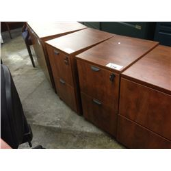 CHERRY 2 DRAWER PEDESTAL