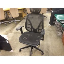 BLACK MESH BACK EURO STYLE FULLY ADJUSTABLE MULTILEVER HIGH BACK TASK CHAIR
