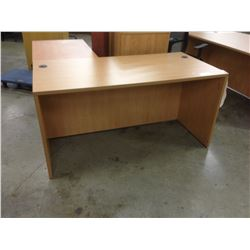 HONEY MAPLE 5' COMPUTER DESK
