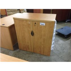 HONEY MAPLE 3.5' STORAGE CABINET