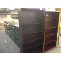 6' CHERRY BOOKCASE