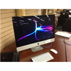 APPLE IMAC 27'' LATE 2012, IMAC13,2, 3.4 GHZ INTEL CORE I7 PROCESSOR, 8 GB 1600 MHZ DDR3 RAM,