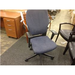 BLUE TEKNION SAVERA SYNCHRO TILT HIGH BACK FULLY ADJUSTABLE TASK CHAIR