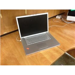 APPLE MACBOOK ALUMINUM 15'' NOTEBOOK COMPUTER, NO POWER SUPPLY, NO HARD DRIVE, CONDITION UNKNOWN,