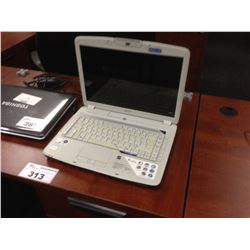 BLACK ACER NOTEBOOK COMPUTER, COMES WITH POWER SUPPLY, NO HARD DRIVE, CONDITION UNKNOWN