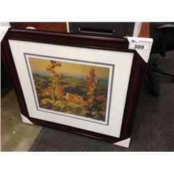 "FRANKLIN CARMICHAEL, ""AUTUMN IN THE NORTHLAND"", FRAMED LIMITED EDITION PRINT, 200/950"