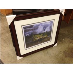 "A.J. CASSON, ""RAGGED SKY, MOOSE LAKE"", FRAMED LIMITED EDITION PRINT, 200/950"