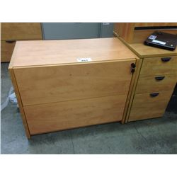 HONEY MAPLE 2 DRAWER LATERAL FILE CABINET