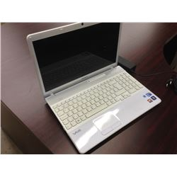 GREY SONY VAIO NOTEBOOK COMPUTER, COMES WITH POWER SUPPLY, NO HARD DRIVE, CONDITION UNKNOWN