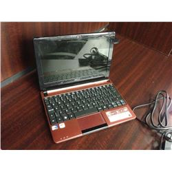 RED ACER NOTEBOOK COMPUTER, COMES WITH POWER SUPPLY, NO HARD DRIVE, CONDITION UNKNOWN