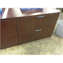 MAHOGANY 2 DRAWER LATERAL FILE CABINET