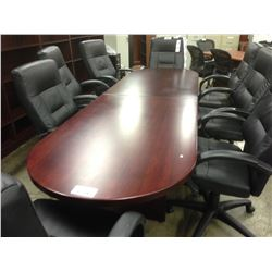 MAHOGANY 10' RACETRACK BOARDROOM TABLE