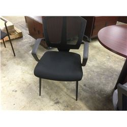 BLACK MESH BACK CLIENT CHAIR