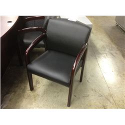 BLACK MAHOGANY FRAMED CLIENT CHAIR
