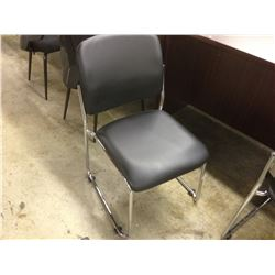 BLACK CHROME FRAME STACKING CLIENT CHAIR