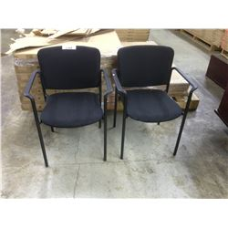 LOT OF 2 BLACK STACKING CLIENT CHAIRS
