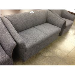 BRAYTON BLUE PATTERN LOVE SEAT