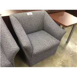 BRAYTON BLUE PATTERN RECEPTION CHAIR