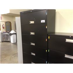HON BLACK 6 COMPARTMENT STORAGE CABINET