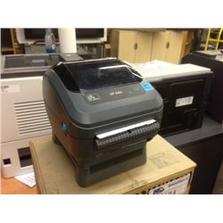 ZEBRA PRINT MODEL ZP 505 LABEL PRINTER WITH LABEL ROLL AND CABLES