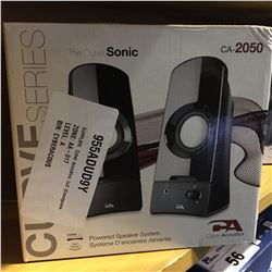 THE CURVE SONIC POWERED SPEAKER SYSTEM