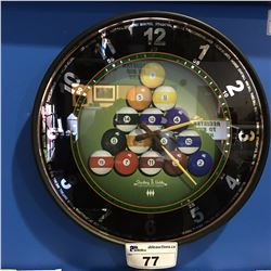 STERLING & NOBLE MAN'S CAVE BILLIARDS WALL CLOCK